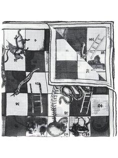 платок с принтом змей и лестниц Alexander McQueen
