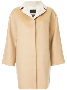однобортное пальто с контрастным воротником  Tomorrowland