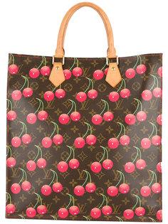 сумка-тоут с принтом вишен Louis Vuitton Vintage