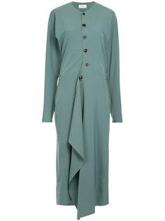 асимметричное платье на пуговицах Lemaire