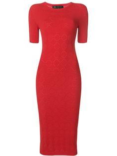 платье вязкой pointelle Versace
