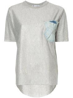 футболка с накладным джинсовым карманом Maticevski