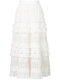 многослойная юбка с оборками Zimmermann