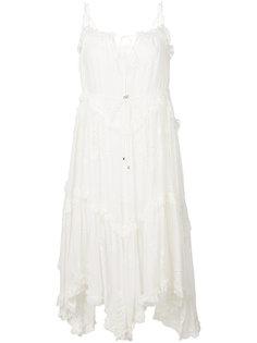 платье асимметричного кроя с рюшами Zimmermann