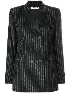 двубортный пиджак в тонкую полоску Aalto