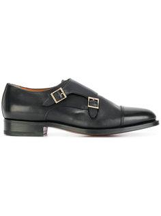 классические туфли-монки с пряжками Santoni