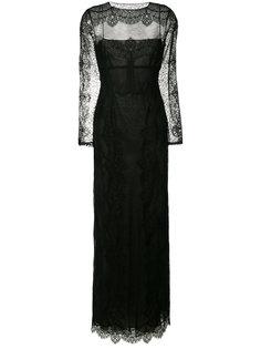вечернее платье с вырезной деталью Alberta Ferretti