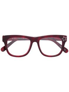 очки в прямоугольной оправе со звездами Stella Mccartney Eyewear