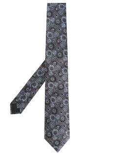 текстурированный галстук с цветочным узором Lanvin