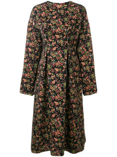 жаккардовое платье-миди с цветочным узором 08Sircus