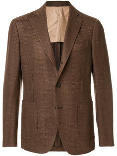 "пиджак с узором ""ёлочкой"" Lardini"