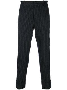 укороченные полосатые брюки  Paolo Pecora