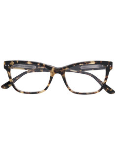 очки в прямоугольной оправе Bottega Veneta Eyewear