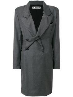 двубортное платье в тонкую полоску Aalto