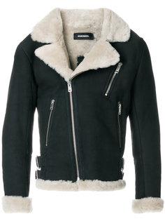 классическая куртка с отделкой из овчины Diesel