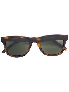 солнцезащитные очки с эффектом черепашьего панциря Saint Laurent Eyewear
