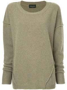 свитер с стиле оверсайз с наружными швами Roberto Collina