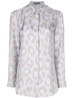 рубашка с леопардовым принтом Salvatore Ferragamo