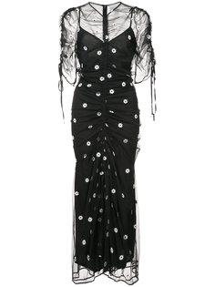 платье с вышитым узором в горох Alice Mccall