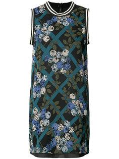 rose print dresss Anna Sui