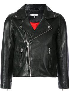 укороченная байкерская куртка Ganni