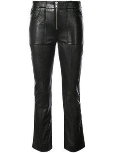 укороченные байкерские брюки Ganni