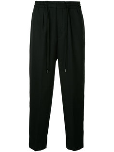 брюки свободного кроя с завязками на талии monkey time