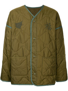 стеганое пальто с V-образным вырезом monkey time