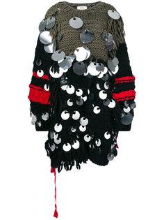 объемное платье-свитер с пайетками Ports 1961