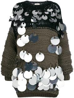 объемный свитер с пайетками Ports 1961