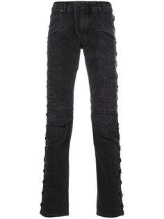 джинсы со шнуровкой Pierre Balmain