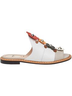 сандалии с цветочными деталями Fendi