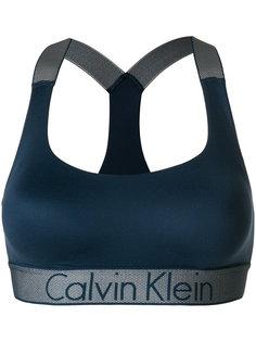 бюстгальтер без косточек с лентой с логотипом Calvin Klein