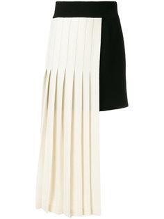 плиссированная юбка двойного дизайна Fausto Puglisi