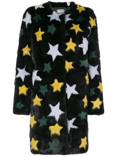 норковое пальто со звездами Meteo By Yves Salomon