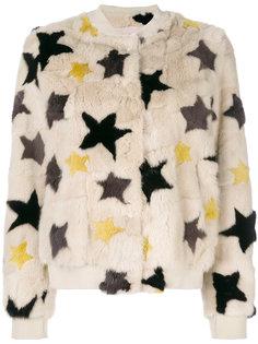 меховая куртка со звездами Meteo By Yves Salomon