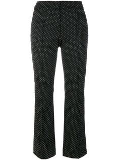 укороченные брюки с принтом Luisa Cerano