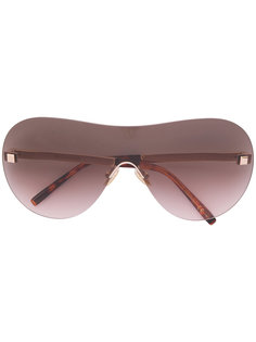 солнцезащитные очки в объемной оправе Boucheron