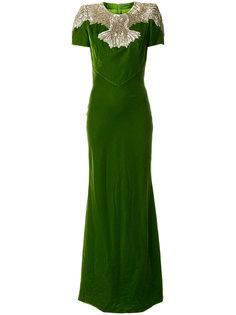 декорированное вечернее платье Alexander McQueen