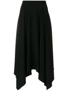 удлиненная юбка с асимметричным подолом Nina Ricci