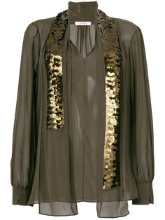 блузка с завязками из пайеток Dorothee Schumacher