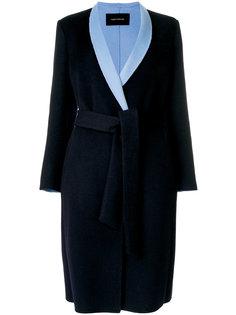 пальто с контрастными лацканами Cédric Charlier