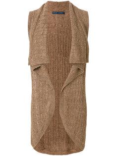 трикотажный кардиган без рукавов  Ralph Lauren