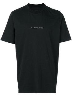 футболка с принтом со слоганом Oamc