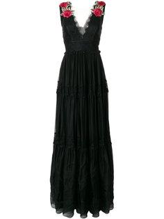 вечернее платье с кружевными панелями Philipp Plein
