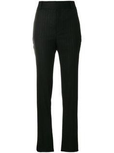 брюки с завышенной талией в полоску  Saint Laurent