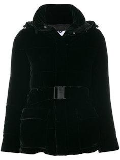 бархатная дутая куртка с поясом  Aspesi