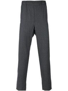 укороченные брюки в тонкую полоску Lucio Vanotti