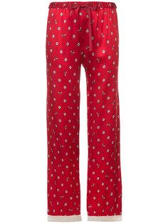 брюки Chantal  с вышивкой маргариток Morgan Lane
