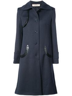 удлиненное двубортное пальто  Nina Ricci